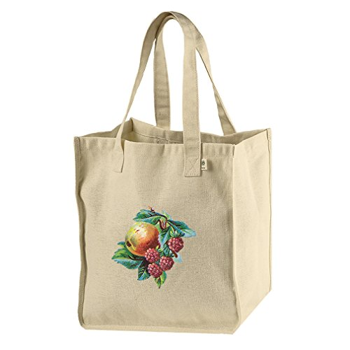 Market Tote Hemp Canvas Blackberry And Fruit Vintage Look By Style In ()