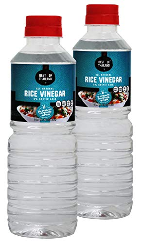 All Natural Rice Vinegar - Sugar Free, No Sodium, No MSG, Unseasoned, Kosher - 2...