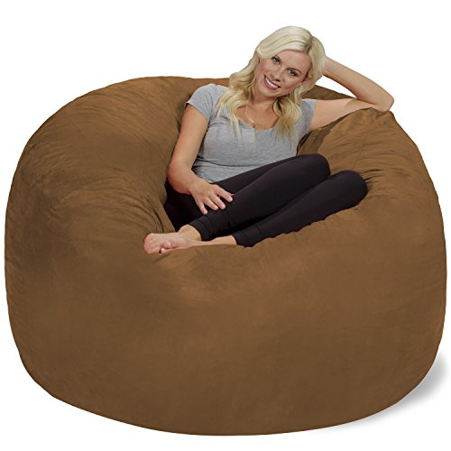 Earth Microsuede Covers - Chill Sack Bean Bag Chair: Giant 6' Memory Foam Furniture Bean Bag - Big Sofa with Soft Micro Fiber Cover - Earth
