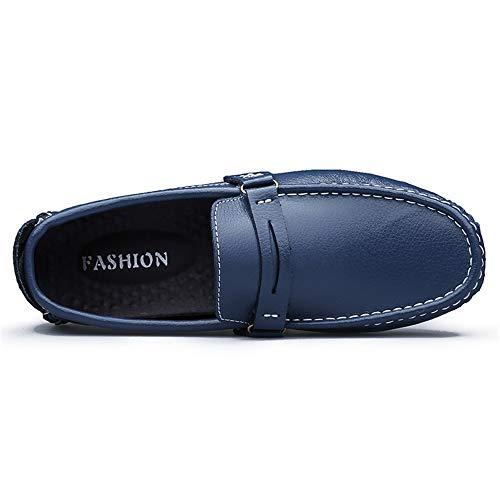 29 Hcwtx uomo Blu Scarpe da barca sintetica pelle donna da 24 0cm d'affari gommino da basse comfort Scarpe Scarpe Mocassino blu Mocassino dimensioni in 0cm marrone qqrxZRwp