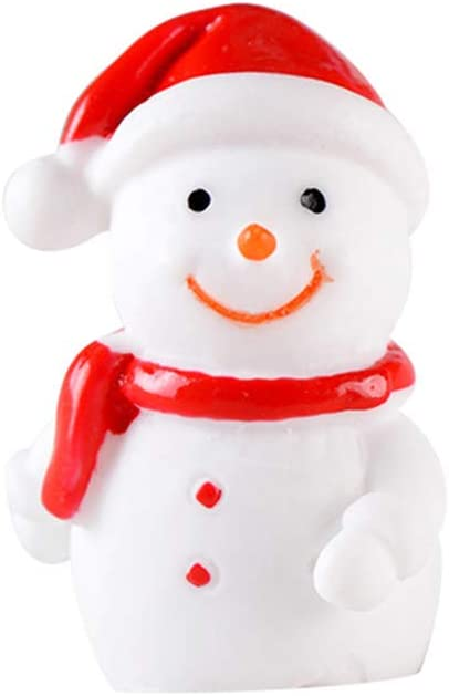 Micro Landscape Christmas Figurines Miniature Snowman Xmas Tree Santa Claus