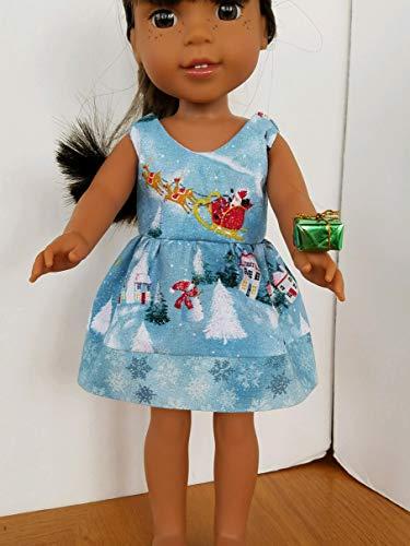 Handmade! SPARKLE SANTA CHRISTMAS DRESS fits AG 14.5