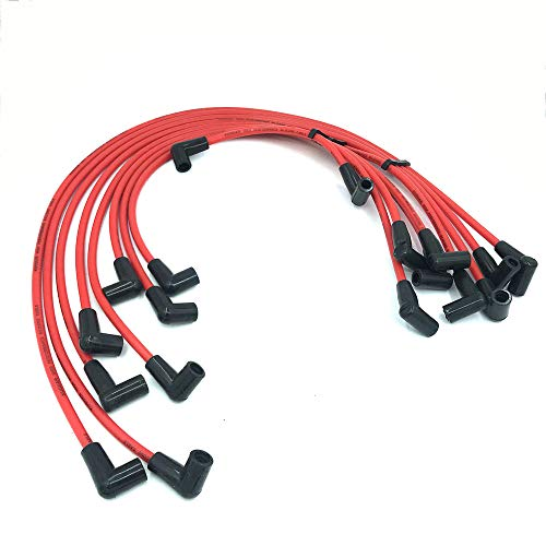 9X High Performance 8.5 MM Spark Plug Ignition Wire Set for HEI SBC BBC 350 383 ()