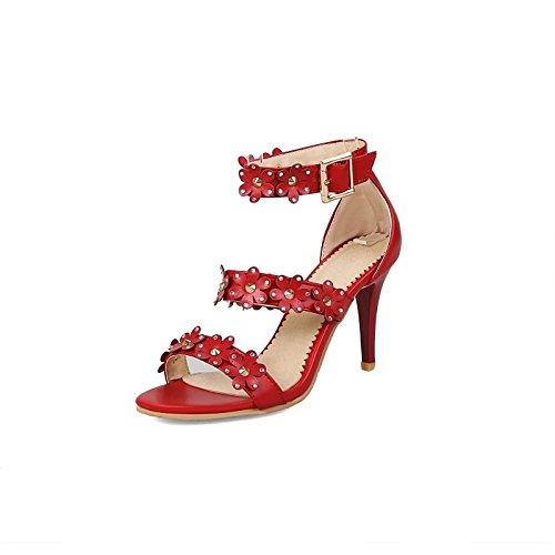 f7712fac3 ZHZNVX Zapatos de mujer polipiel comodidad verano sandalias Stiletto talón  Open toe hebilla para Office