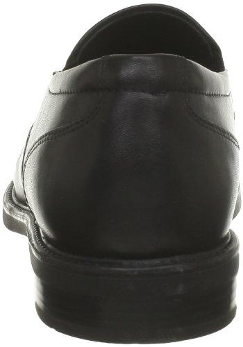 Geox U LONDRA J - Zapatillas de casa de cuero hombre negro - Schwarz (BLACK C9999)