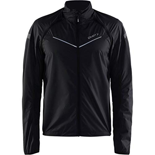 Craft Mens Velo Convert Bike and Cycling Stowable Removable Sleeves Lightweight Reflective Jacket
