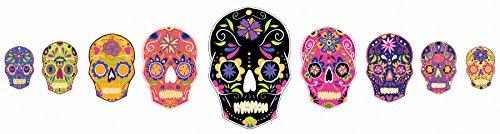 WallPops DWPK2250 Skulls Large Wall Art Kit, Multicolor