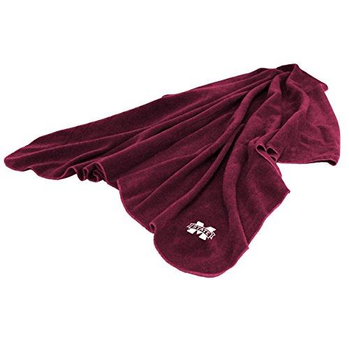 - Logo Brands NCAA Mississippi State Bulldogs Huddle Throw Blanket, Medium, Team Color