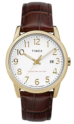 Timex Mens Analogue Classic Quartz Watch with Leather Strap TW2R65100