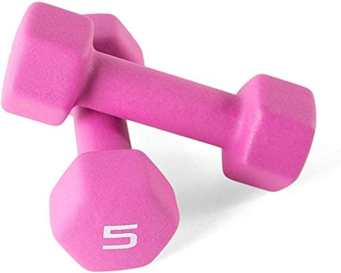 Cap Color Neoprene Dumbbell for Muscle Toning, Strength Building, Weight Loss - Portable Weights for Home Gym Non-Slip and Hex Shape - Sold by Pairs 1