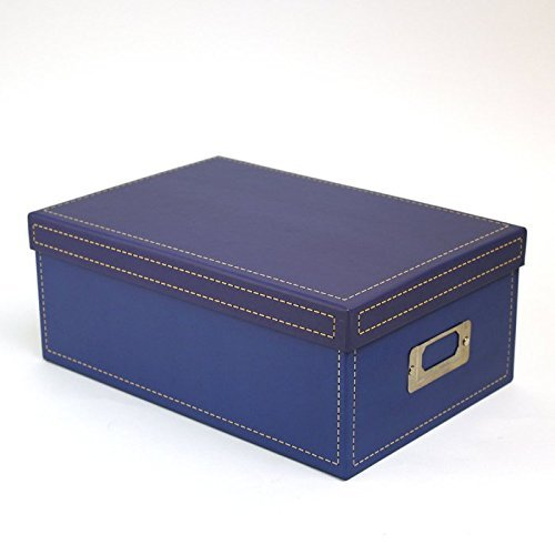 "KVD Kleer-Vu Deluxe Albums Inc. Photo Box Collection, Holds and stores all your photos, negatives, cd's, dvd's etc... 8"" wide x 11"" long x 4.75"" high, Blue"
