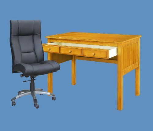 Study Desk with Drawer Honey Finish by DONCO