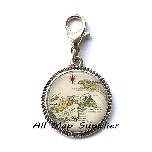 Beautiful Zipper Pull,British Virgin Islands map Zipper Pull, Anegada map, Tortola map, Virgin Gorda map Caribbean wedding Zipper Pull,AO132