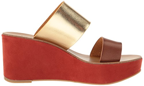 Smooth Brown Chinese Rich Sandal Wedge Women's Ollie Laundry x4UgUw0zqH