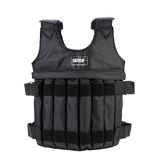 Yosoo Weighted Vest Adjustable Weight Jacket Workout Weight Jacket Exercise Boxing Training Fitness (20 KG)