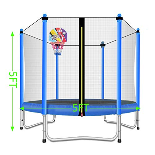 Lovely Snail Trampoline with Basketball Hoop-Trampoline for Kids-Blue-5 Feet by Lovely Snail (Image #5)