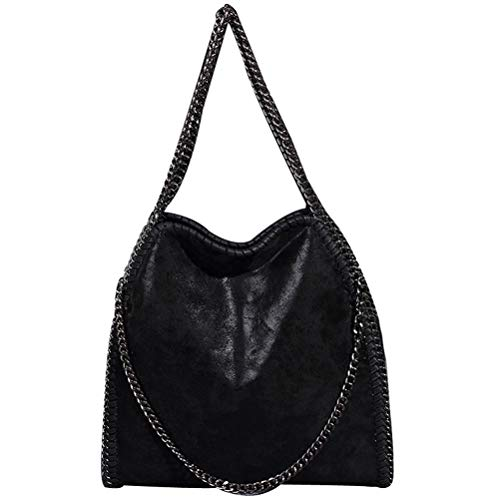 Abuyall Women Chain Paillette Large Casual Tote PU Leather Hobo Shoulder Bag A by Abuyall (Image #3)