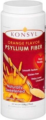 Konsyl Fiber (Konsyl Psyllium Fiber Orange Flavor 19oz (pack of 2) by KONSYL PHARMACEUTICALS INC)