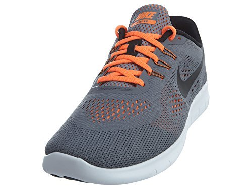 BLACK-TOTAL ORANGE NIKE FREE RN RUNNING 833989 004 COOL GREY