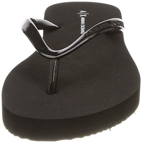Negro 00002 Para Exchange Mujer Slide black Armani Rubber Chanclas xBORY8