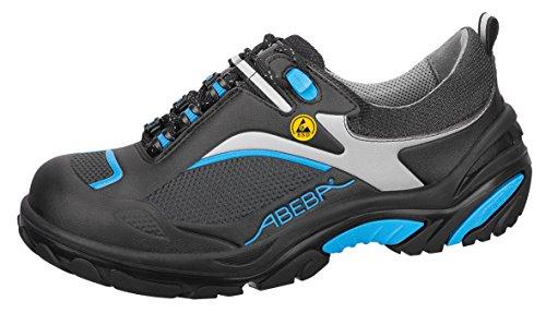 Abeba 34501-43 Crawler Chaussures de sécurité bas ESD Taille 43 Noir/Bleu