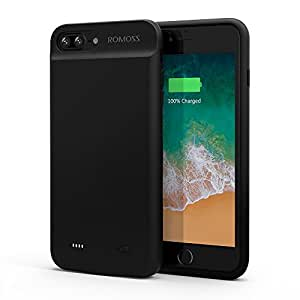 ROMOSS iPhone 7 Plus Battery Case, Compact Extended Battery Case for iPhone 7 Plus (5.5 inch) with 3800mAh Capacity/100% Extra Battery (Black)
