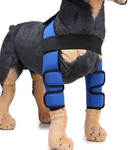 Soporte para pierna de perro, 1 par de patas y articulaciones de pierna para proteger contra lesiones y protección contra esguinces, cicatrización de heridas y pérdida de estabilidad de la artritis,S
