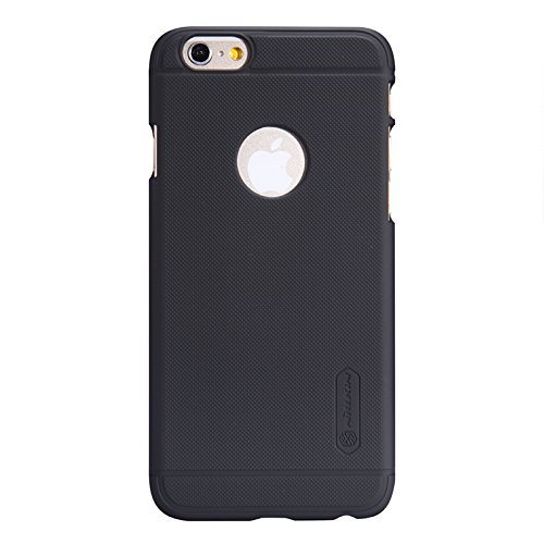 (HS-TOP  ® NILLKIN case cover super gefrostet Schild Conque Matte Back Hülle cover Slim Displayschutzfolie für Apple iPhone 6 (4,7 Zoll), Schwarz