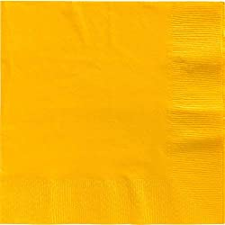 Big Party Pack 2-Ply Dinner Napkins | Sunshine Yellow | Pack of 50 | Party Supply