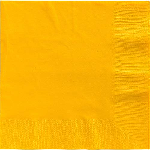 (Big Party Pack 2-Ply Dinner Napkins | Sunshine Yellow | Pack of 50 | Party Supply)