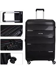 Hardside Spinner Luggage Set, 3 Piece, Black