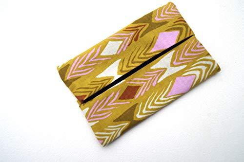 Pocket Size Travel Tissue Holder with Retro Pattern Fabric