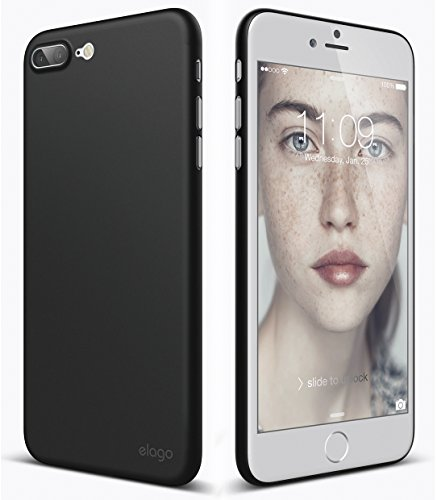elago iPhone 8 Plus Case [Inner Core][Black] - [Device Fitting Tested][Minimalistic][Scratch Protection Only][True Fit] - for iPhone 8 Plus