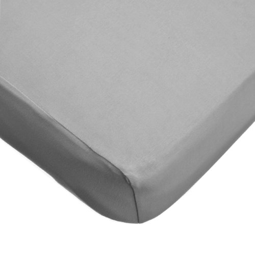 American Baby Company 100% Cotton Jersey Knit Fitted Crib Sheet for Standard Crib and Toddler Mattresses,  Grey (Crib Toddler Skirt)