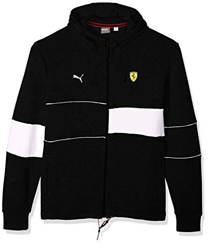 PUMA Men's Scuderia Ferrari Hooded Jacket, Black, M