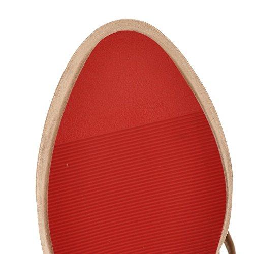 balamasa abricot solide Chaussures avec Femme Hauts boucle Pompes Talons 8Pqr8