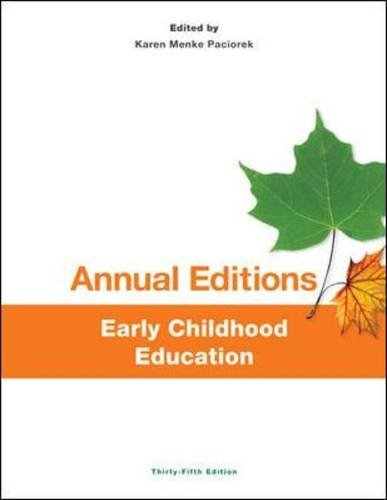 Annual Editions: Early Childhood Education, 35/e