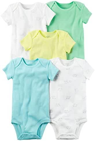 Carter's Baby Girls' 5 Pack Bodysuits