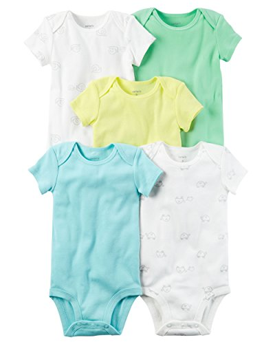 Carter's Baby Boys' 5 Pack Bodysuits (Baby) Turtle and Snail, 6 Months
