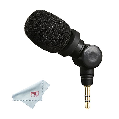 Saramonic SR-XM1, 3.5mm TRS Omnidirectional Microphone Plug and Play Mic for Gopro 5/6 DSLR Cameras Camcorders CaMixer SmartMixer LavMic SmartRig+ and UWMIC9/10/15 Wireless Microphone - Mm Microphone Plug 3.5