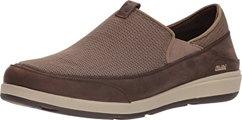 (OLUKAI Men's Makia Casual Shoes, Mustang/Dark Wood, 10 M)