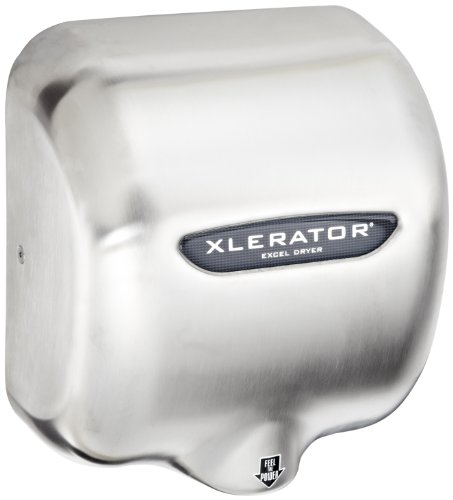 XLERATOR XL-SB Automatic High Speed Hand Dryer with Brushed Stainless Steel Cover and 1.1 Noise Reduction Nozzle, 12.5 A, 110/120 V by XLERATOR