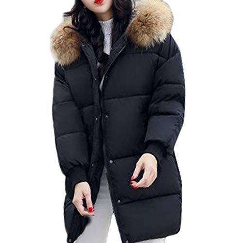 Fourrure En Slim Capuche Winter Parka Coats Manteau Épais Outwear Veste  Coton Collier Chaud Vestes Noir ... cc8395b9655