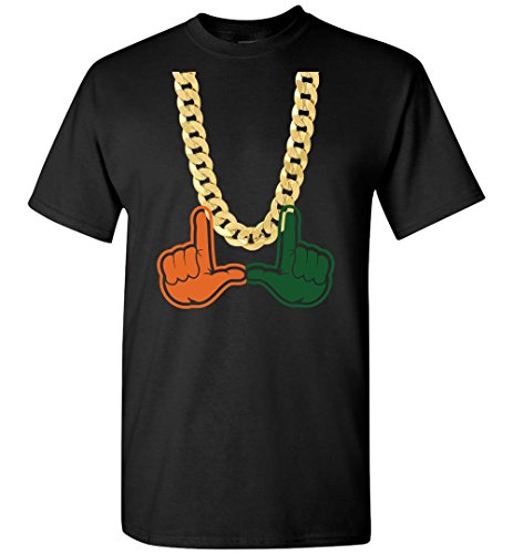 Miami Florida Turnover Chain U Hands Mens Short Sleeve