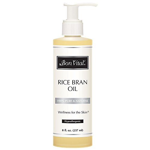 Bon Vital' Rice Bran Oil, 100% Pure and Cold Pressed Carrier Oils for Diffusers, Professional Massage Oil, Best Beauty…