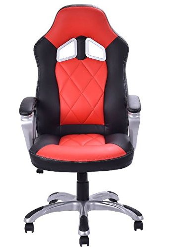 41u3Eo5VAhL - KA-Company-Chair-Style-High-Back-Gaming-Racing-Ergonomic-Office-Leather-Pu-Swivel-Computer-Executive-360-Degree-5-Wheels-Mesh-Bucket-Seat-Red