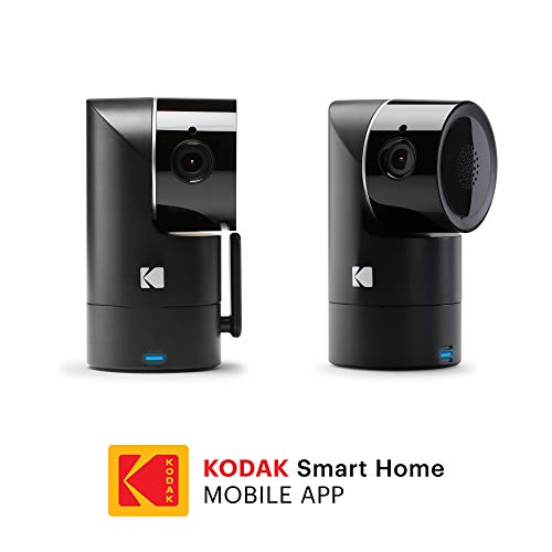KODAK Cherish F685 Home Security Camera (2-Pack) with Mobile App – Full-HD Wireless Security Camera System with Infrared Night-Vision, Battery, Tilt, Pan, Zoom – Surveillance Camera, WiFi Camera