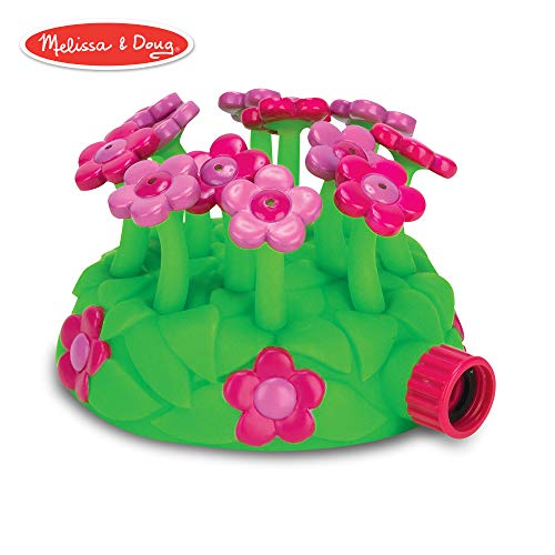 Melissa & Doug Sunny Patch Blossom Bright Sprinkler, Great Gift for Girls and Boys – Best for 3, 4, 5 Year Olds and Up