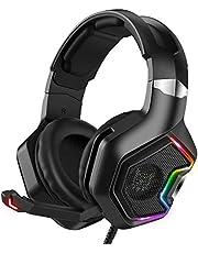 Fone de ouvido Gamer KP- 489 Headset Reduz Ruídos Supra-Auricular Microfone Luz LED PC PS4 Xbox Laptop Nintendo PUBG P2 e USB Com leds coloridos [video game]