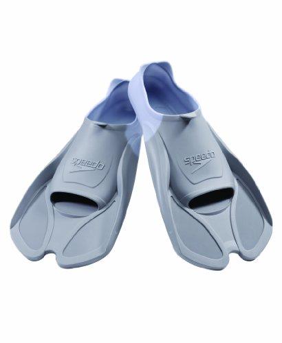 Speedo Biofuse Swim Training Fins, Grey/White, Large